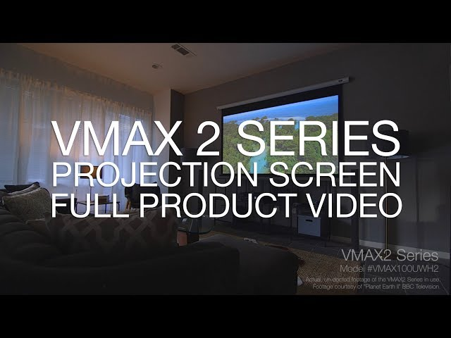 Elite Screens VMAX 2 Motorized Projection Screen Product Video