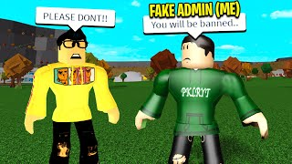 I Became A BLOXBURG ADMIN To Scare My Roblox Friend.. It Worked!