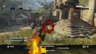 Ess MooMooMiLK Gears of War 3 Golden Moments #5 (IM ON FIRE!)