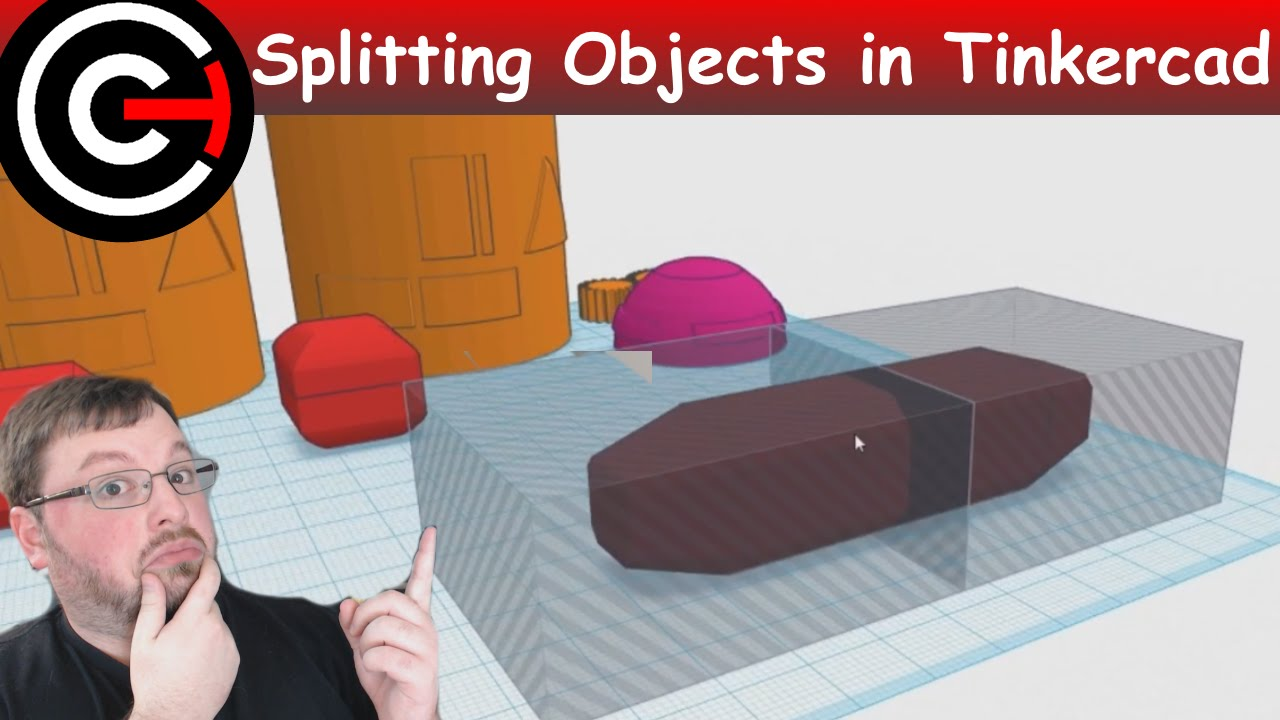 How To Split Objects In Tinkercad Youtube