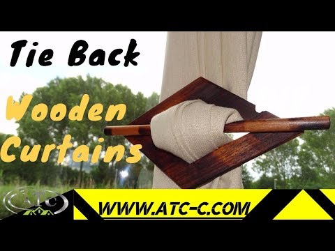 How to build an easy Wooden Curtains Tie Back // DIY