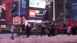 The Great Blizzard of New York Times Square Blizzard Funny Report Tragedy 2015 Juno Real Footage