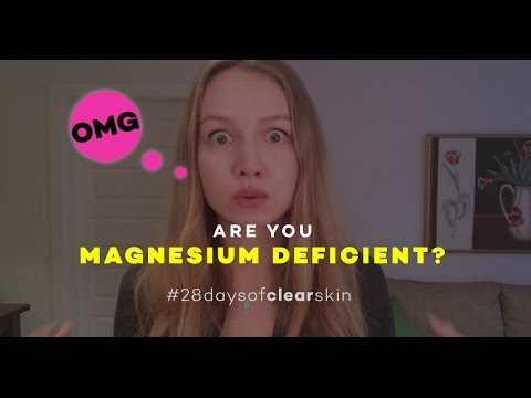 MAGNESIUM DEFICIENCY AND ACNE!!! THIS IS LEGIT!   28 Days Of Clear Skin