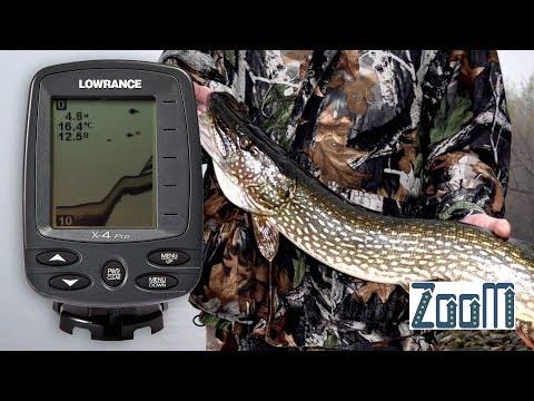 Тестирование эхолота Lowrance X-4 Pro с берега