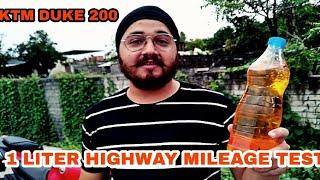 KTM DUKE 200 | 1 LITRE HIGHWAY MILEAGE TEST