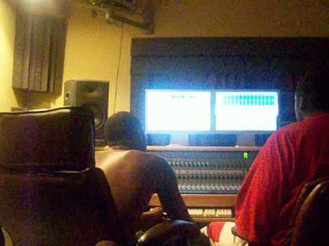 yung corey in the studio