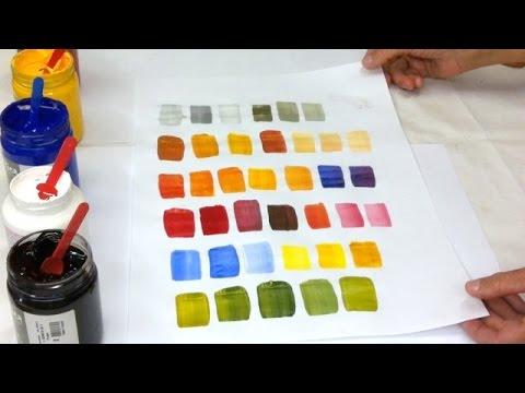 Pintar é fácil Pintura em Tela - Produzindo Todas as  Cores
