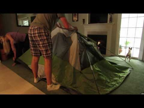 How to say set up a tent