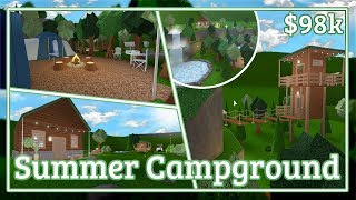Bloxburg - Summer Campground Speed-build