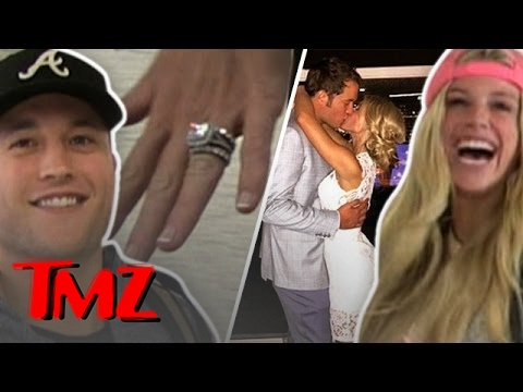 Introducing Matt Stafford And His New Wife Tmz Youtube