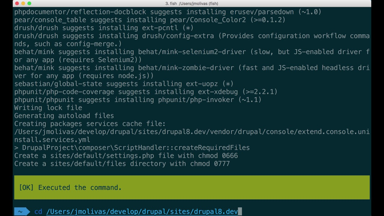 Installation of Drupal 8 core and contributed projects