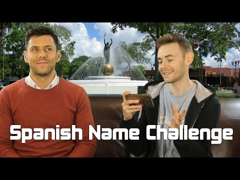 Irish Guy Tries To Pronounce Spanish Names