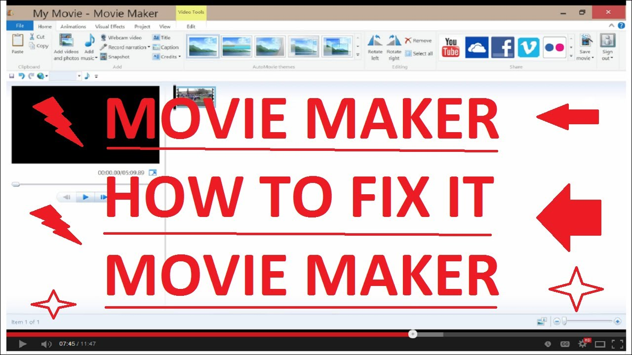 How to fix Windows Movie Maker's Crashing and Errors - YouTube