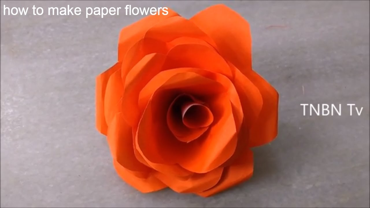 How to make paper flowers easy origami flowers for beginners how to make paper flowers easy origami flowers for beginners simple life hacks diy youtube dhlflorist Choice Image
