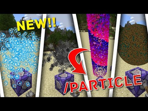 NEW!! How To Use /Particle COMMANDS In Minecraft BEDROCK!! NEW UPDATE!!