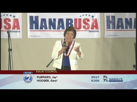 Colleen Hanabusa addresses supporters