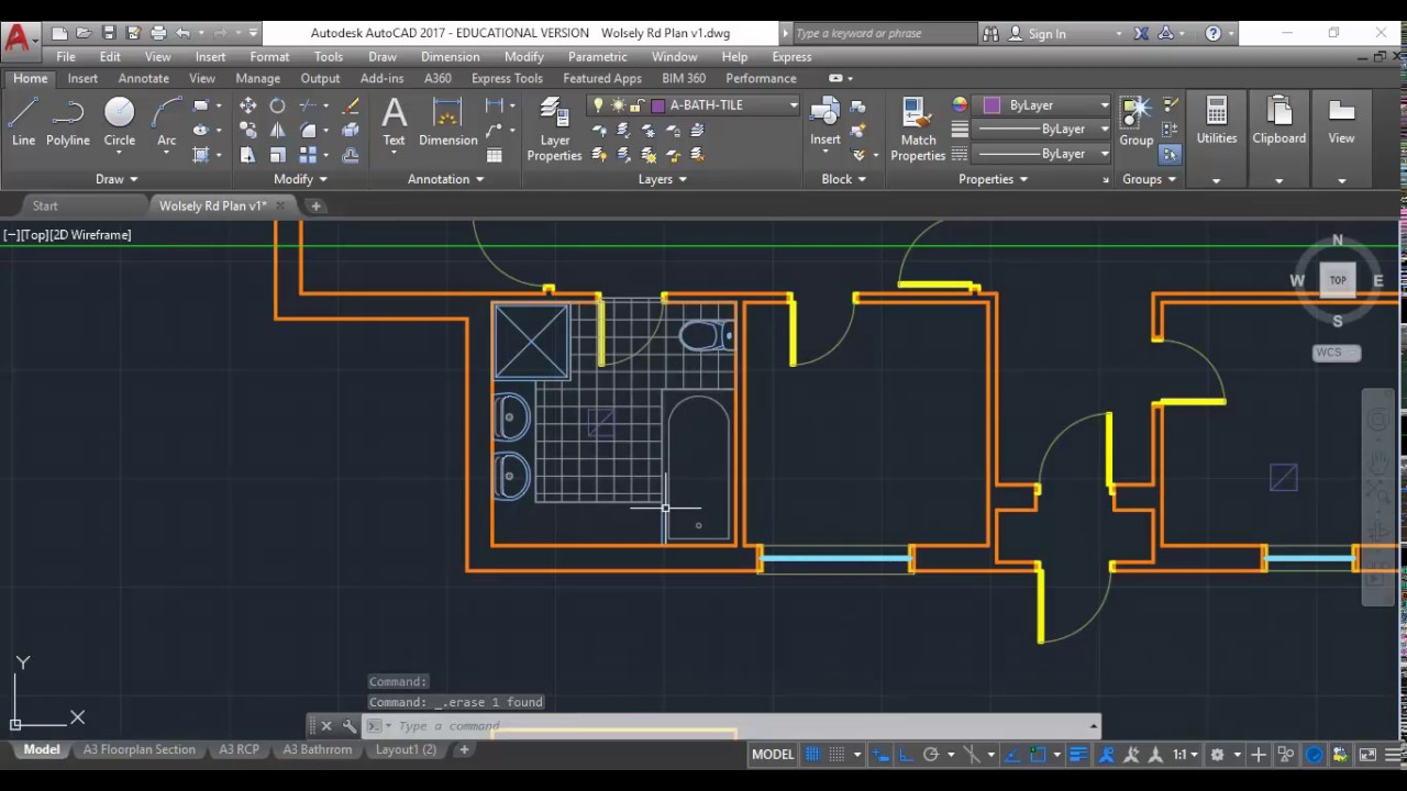 Wolsely Rd AutoCAD 11 Bathroom Elevations