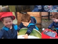 Winter Garden Fun in the UK Video for Kids | Water fight, Ride-on Cars | Water Wall | Bubbles