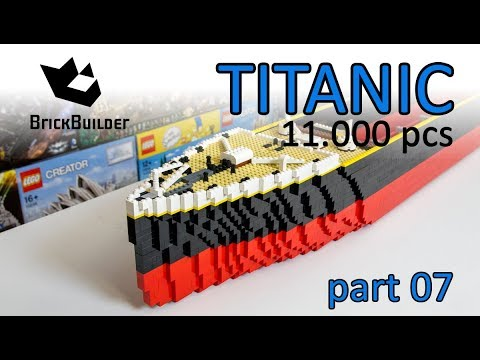 LEGO MOC TITANIC 2,4 m long - 11.000 pcs - Part 07 - Lego Speed Build