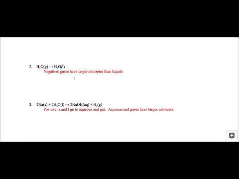 Unit 11: Entropy and Gibbs Free Energy