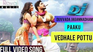 Dj Movie Tamil Paaku Venthale Pottu Full Video Song Allu Arjun,Pooja Hedge