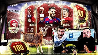 FIFA 20: 3x TOP 100 REWARDS 🔥😱 MESSI KOMM ZU UNS !!! Messi Komm !! Messi komm doch !!