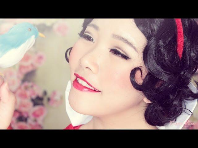 ? Snow White Makeup Transformation ?   Classic Pin-up Makeup