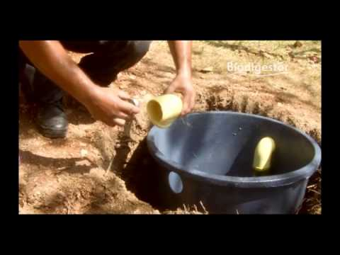 Biodigestor no m s pozos s pticos youtube for Como hacer un tanque de agua para rustico