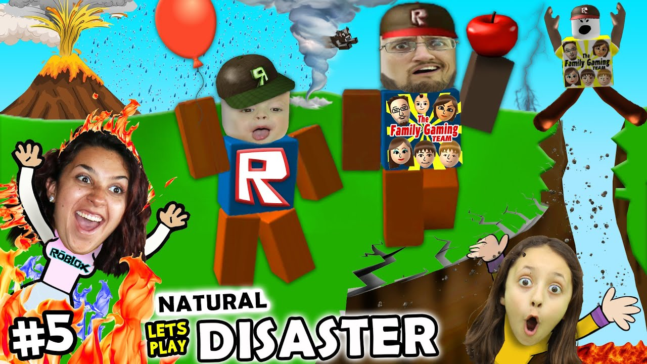 Lets Play Roblox 5 Save Family Or Play Games Natural Survival