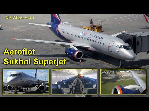 Aeroflot Sukhoi Superjet 100 Business Class Moscow to Kiev [AirClips full flight series]
