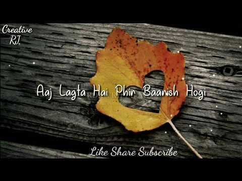 Baarish - Bilal Saeed whatsapp Status Vedio | Latest Punjabi Song 2018 |Creative Rj ||