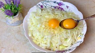 Самый простой и вкусный Рецепт из 2 Яиц лука и картошки Вкусный и Быстрый ужин завтрак или обед