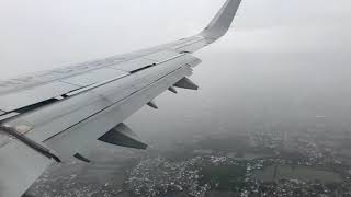 Philippine Airlines rainy landing at NAIA