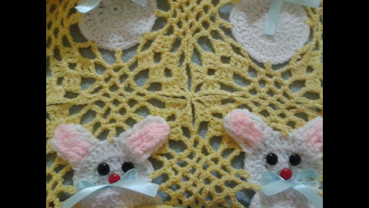 Amigurumi Conejo Paso A Paso : Parte de colcha de conejos a crochet union de cuadros