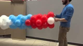 Оформление супермаркета воздушными шарами