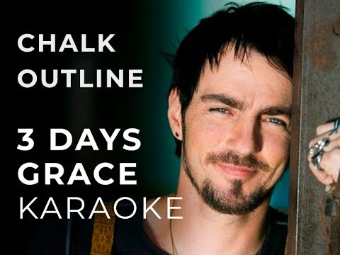 three days grace - chalk outline karaoke