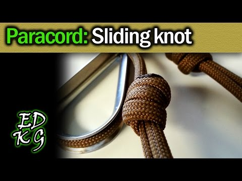 Simple Paracord: Sliding Knot (great for lanyards)