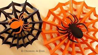 Decoración para Halloween/Día de los Muertos, Tela de Araña, Paper spiderweb, Halloween Decoration
