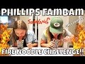 THE SPICY KOREAN FIRE NOODLE CHALLENGE | GIRLS EDITION! SPICY RAMEN | PHILLIPS FamBam Challenges!