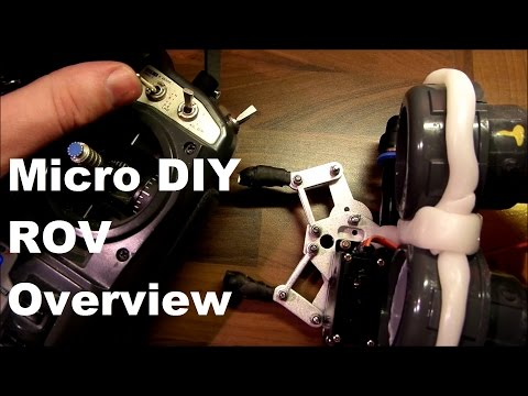Micro DIY ROV Overview. Home Built Submarine Drone. My first