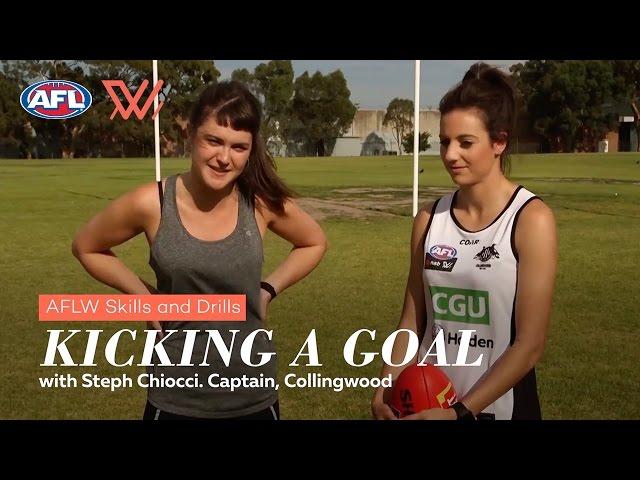 AFLW Skills & Drills | Goal Kicking with Steph Chiocci