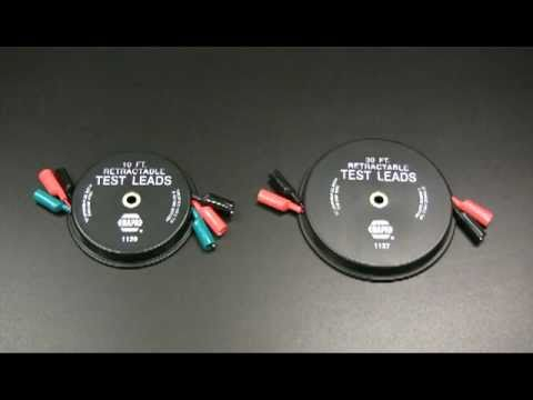 retractable wire test lead ser 1129 ser 1137 youtube rh youtube com retractable wired travel mouse retractable wire reel