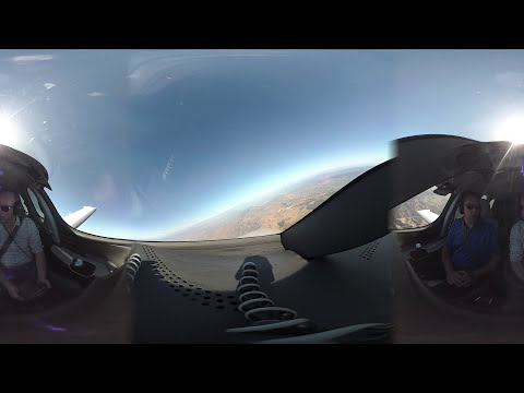 Cirrus Vision Jet: 360 Video from Cockpit Flying Around LA -