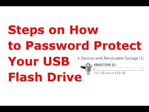 Steps On How To Password Protect Your USB Flash Drive