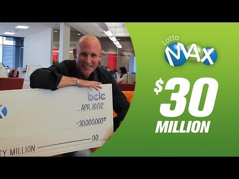 LOTTO MAX Winners - $30 Million - Ian McMurtrie (In trust)