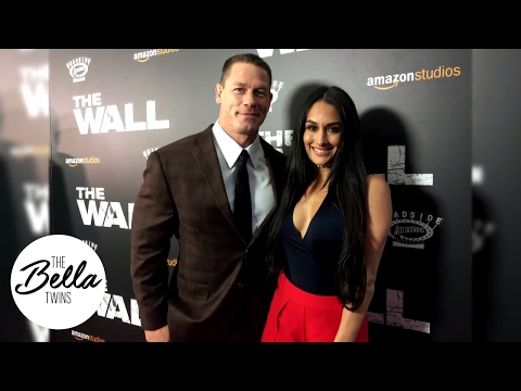 "Nikki and John Cena rock the red carpet at the premiere of ""The Wall"""