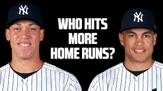 Aaron Judge or Giancarlo Stanton? Who will hit more home runs?