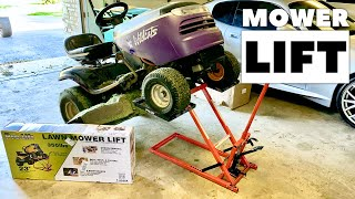 Riding Lawn Mower Lift Setup and Review