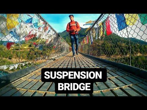 SUSPENSION BRIDGE TOUR   PUNAKHA VILLAGE BHUTAN