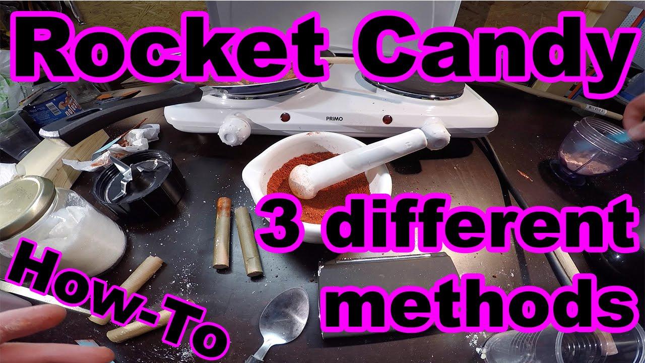 Sugar rocket propellant: 3 methods